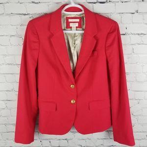 "J. CREW   ""Schoolboy"" wool blend red blazer"